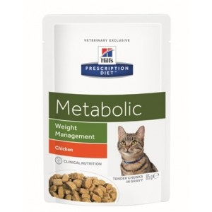 Hill's Prescription Diet Metabolic Pouch 85 g Katzenfutter 12 Beutel von Hill's Prescription Diet