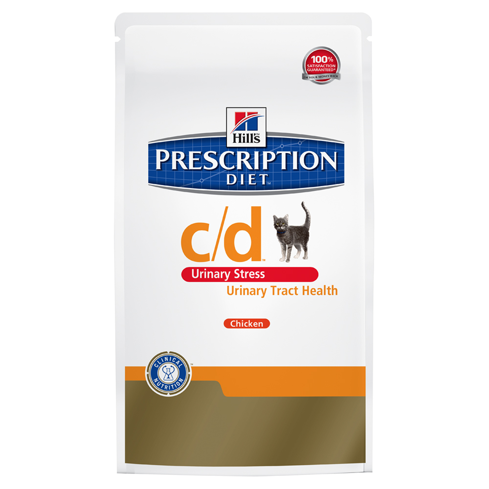 Hill's Prescription Diet c/d Urinary Stress Urinary Care Katzenfutter mit Huhn - Sparpaket: 2 x 8 kg von Hill's Prescription Diet