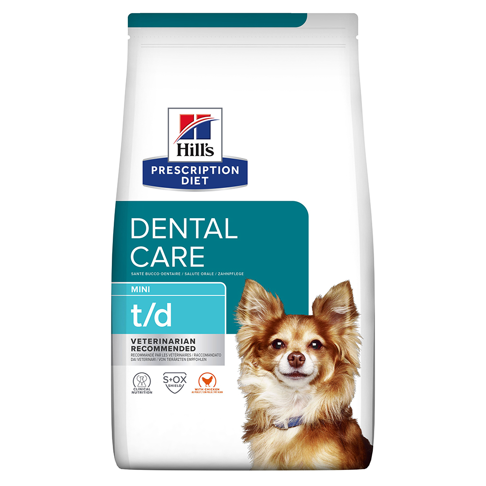 Hill's Prescription Diet t/d Mini Dental Care Hundefutter mit Huhn - Sparpaket: 3 x 3 kg von Hill's Prescription Diet