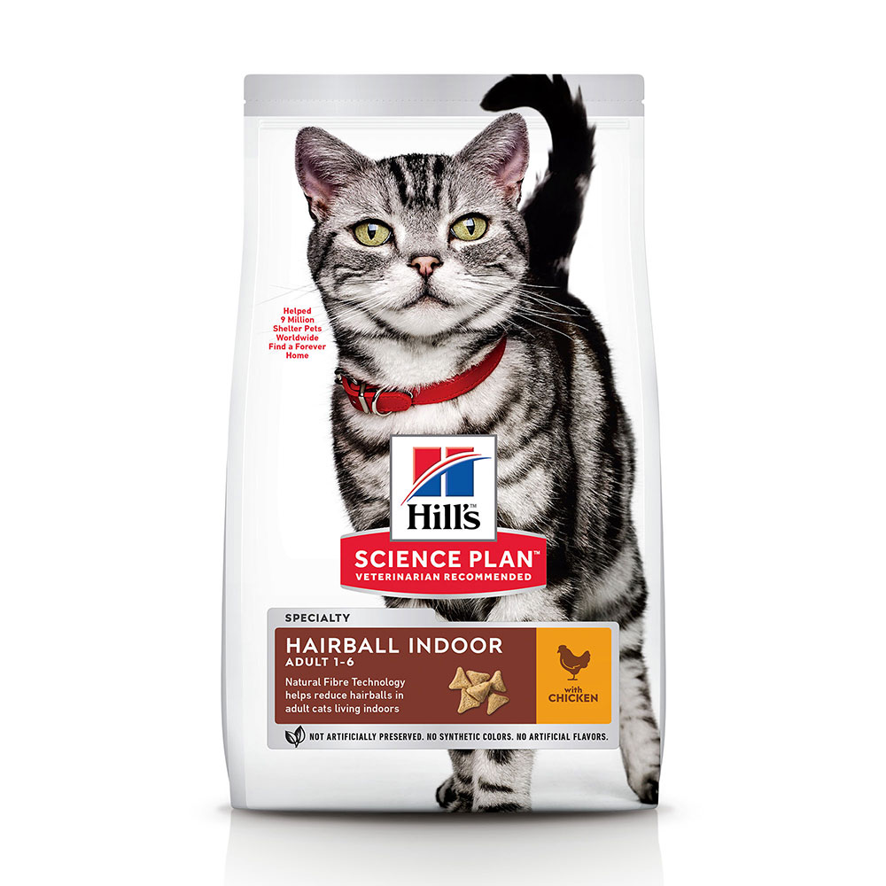 Hill's Science Plan Adult Hairball & Indoor Huhn - Sparpaket: 2 x 10 kg von Hill's Science Plan