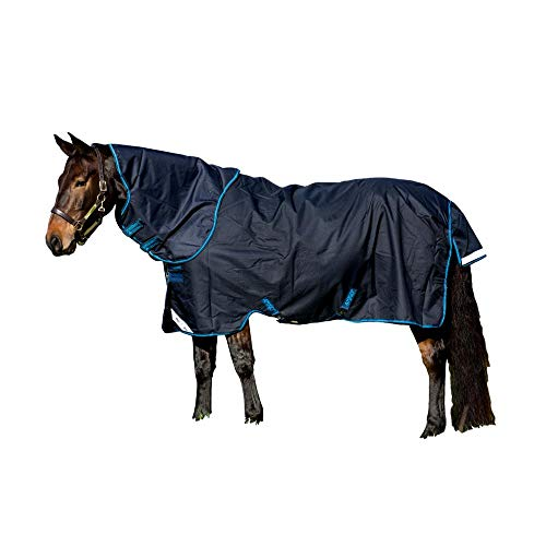 Horseware Amigo Bravo 12 lite Disc 100g Regendecke Navy with Navy & Electric Blue (125) von Horseware