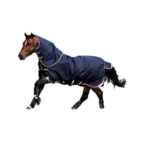 Horseware Rambo Duo Bundle Weiche Wolldecke 125cm Navy/Beige/White/Red von Horseware