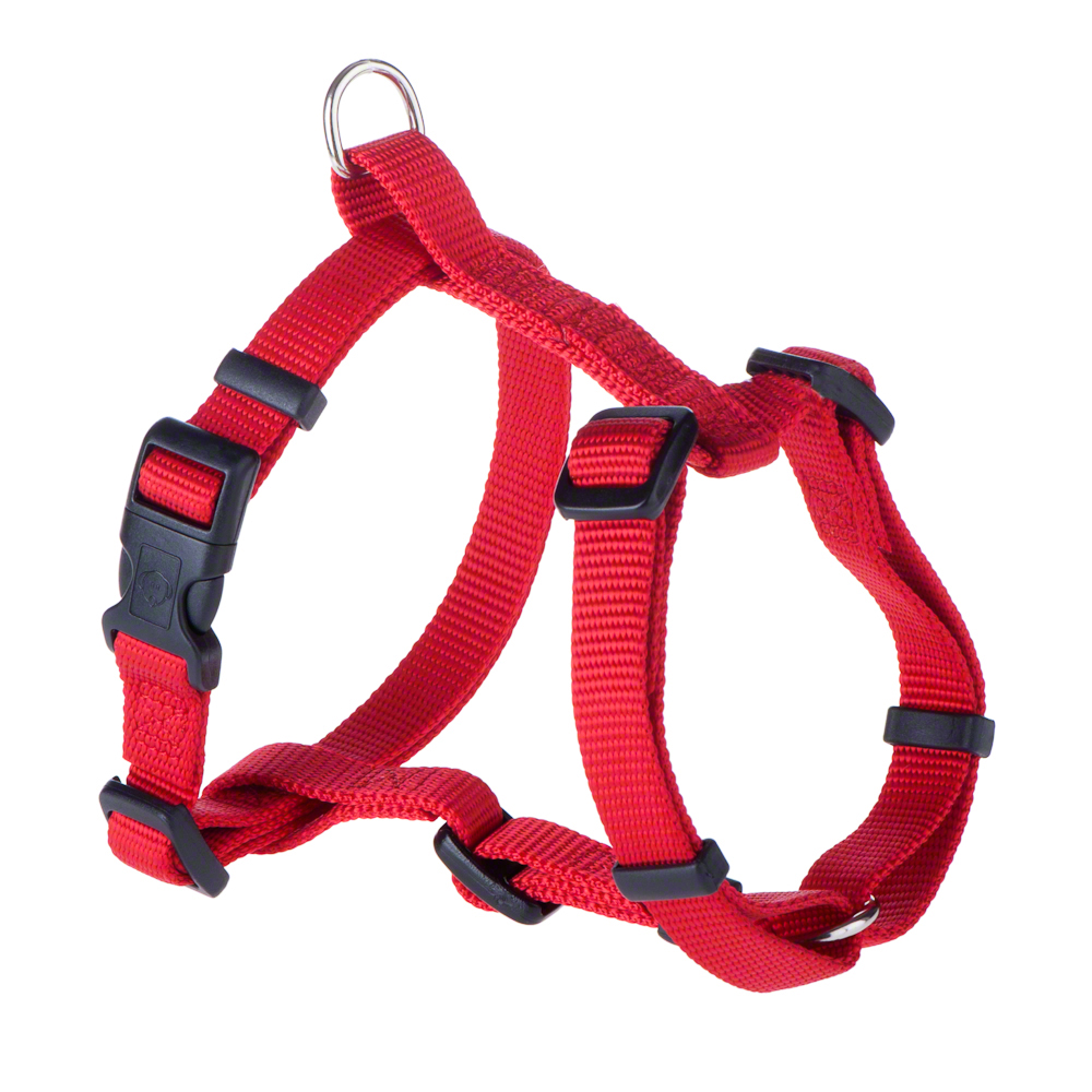 Hunter Set: Geschirr + Leine Ecco Sport Vario Rapid - Geschirr S + Leine 200 cm / rot von Hunter