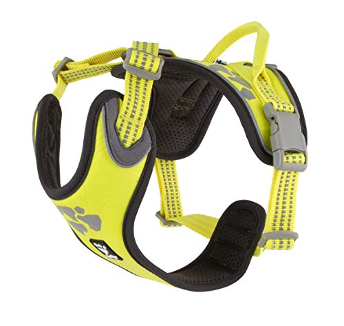 Hurtta Weekend Warrior Hundegeschirr, Neon-Zitronengelb, 99-119 cm von Hurtta
