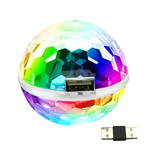 Iwähle Mini Bühne Lichter Disco Home Party Lichter Led Flash USB Lights Strobe Lampe, 6cm (A) von Iwähle