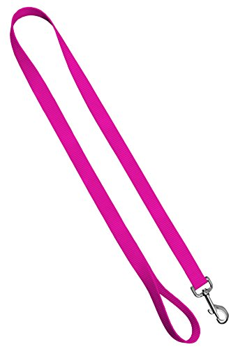 Dog Leash - Colored Heavy Duty Pet Leashes, Made in The USA - 1 Inch x 4 Feet, Hot Pink von Moose Pet Wear
