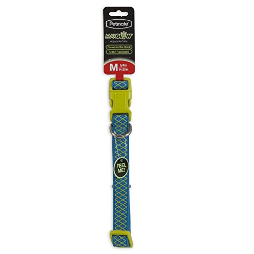 "Petmate GID Easy to Clean Grid Adjustable Collar, 3/4"" x 14-20"", Blue Grid, Light Blue von Pet Mate"