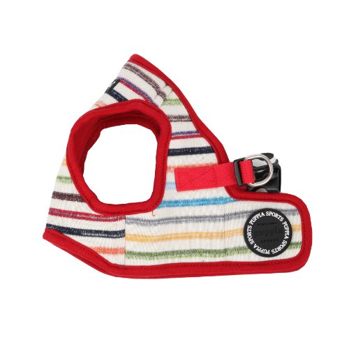 Puppia PAND-AH1184 Geschirr Watercolor Harness B, M, rot von Puppia