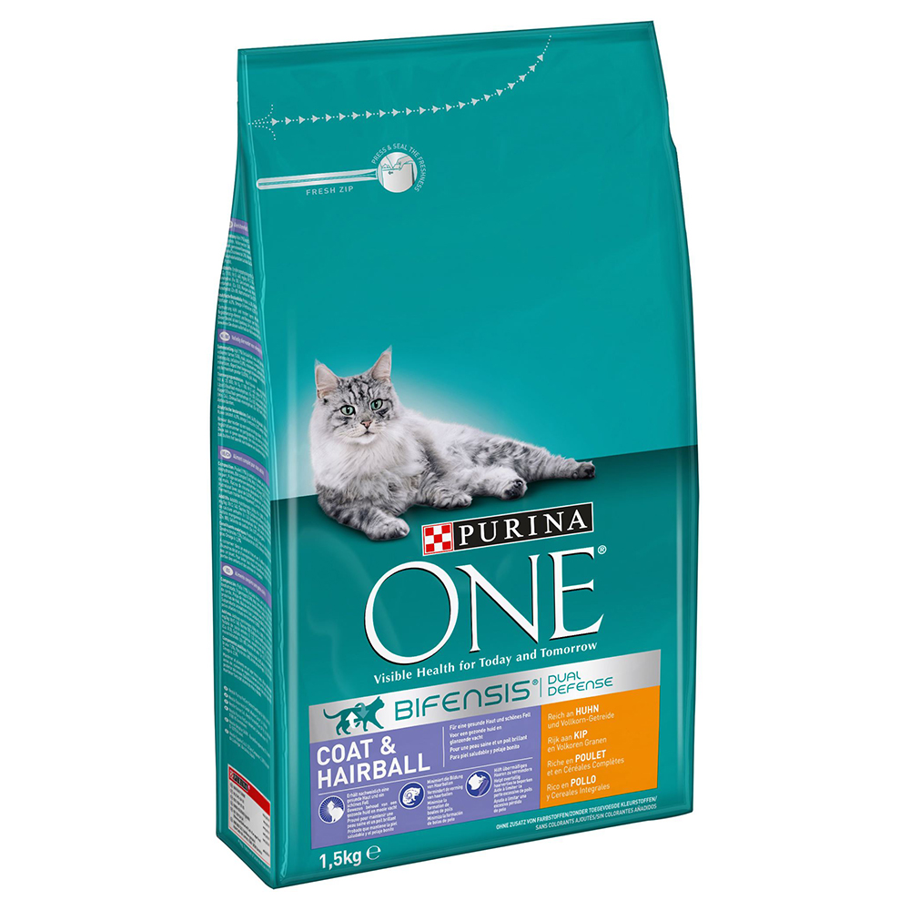 Purina ONE Coat & Hairball - Sparpaket: 6 x 1,5 kg von Purina One