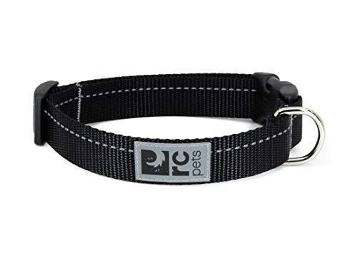 RC Pet Products 1 Inch Primary Collection Adjustable Dog Collar, Large, Black von RC Pet Products