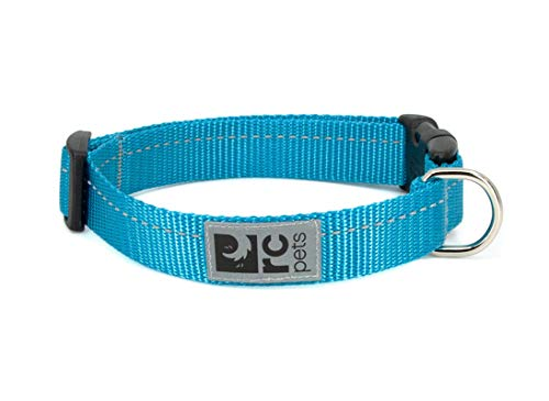 RC Pet Products 3/4 Inch Primary Collection Adjustable Dog Collar, Small, Cyan von RC Pet Products