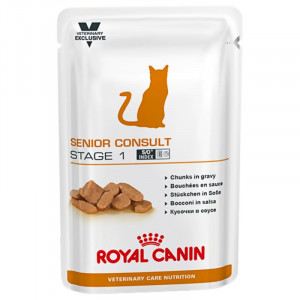 Royal Canin VCN Senior Consult Stage 1 Pouch Katzenfutter 4 x 12 Beutel von Royal Canin Veterinary Care