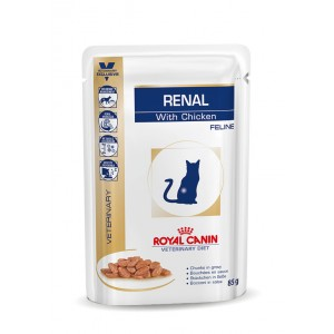 Royal Canin Renal Pouch Huhn Katzenfutter 8 x 12 Beutel von Royal Canin Veterinary Diet
