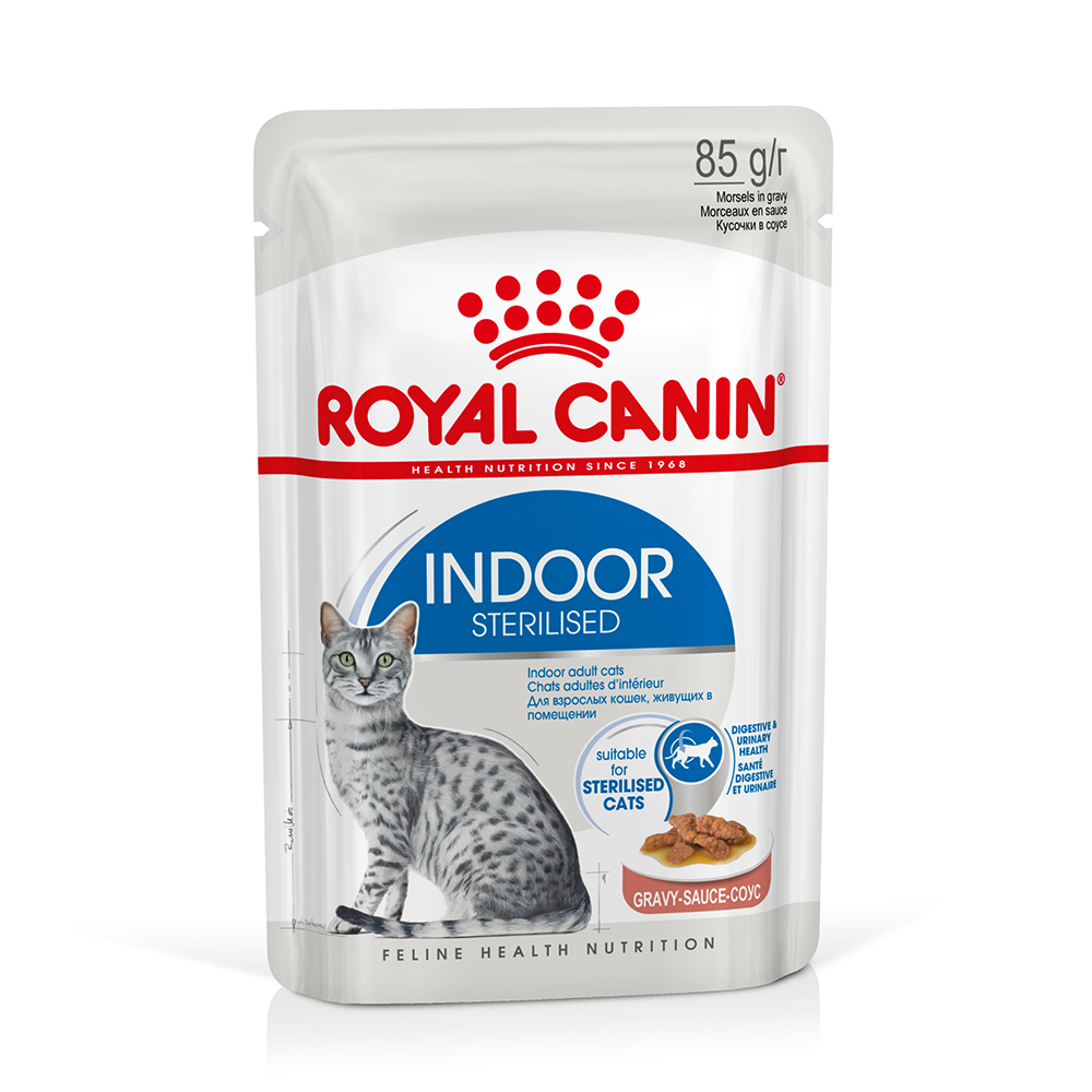 Royal Canin Indoor Sterilised in Soße - 48 x 85 g von Royal Canin