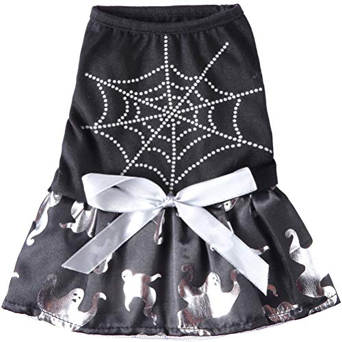 ULTECHNOVO Haustier Kostüm Halloween Spinnennetz Ghost Pattern Hund Rock Pet Supply Lustige Kleidung Zubehör Hundebekleidung & Accessoires für Haustiere Hund von ULTECHNOVO