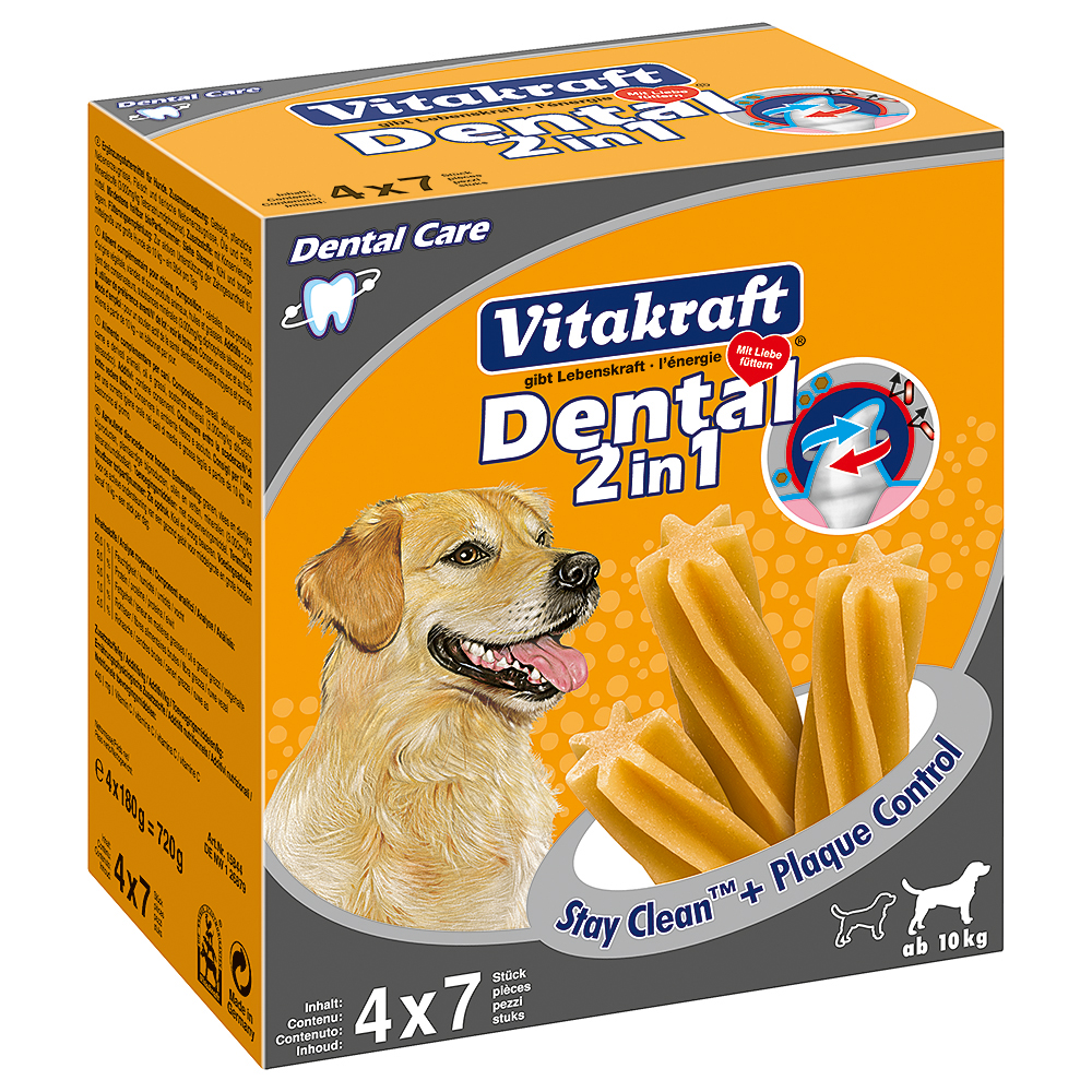 Vitakraft Dental 3in1 medium Multipack - 6 x (4 x 180 g) von Vitakraft