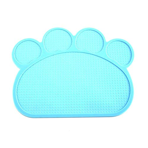 WTMLK 40 * 30cm Pet Dog Puppy Cat Feeding Mat Pad Cute Silicone Dish Bowl Food Feed Placement Dog Accessories,QL von WTMLK