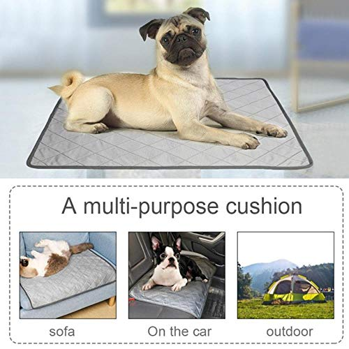 WTMLK Dog Mat Cooling Summer Pad Mat for Dogs Cat Blanket Sofa Breathable Pet Dog Bed Summer Washable for Small Medium Large Dogs Car,Spain,S von WTMLK