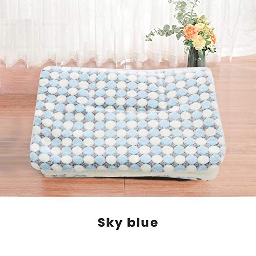 WTMLK Thickened Pet Soft Fleece Pad Blanket Bed Mat for Washable Rug Keep Warm Puppy Dog Cat Sofa Cushion Home S/M/L/XL/XXL/XXXL,G,XL 71x54cm von WTMLK