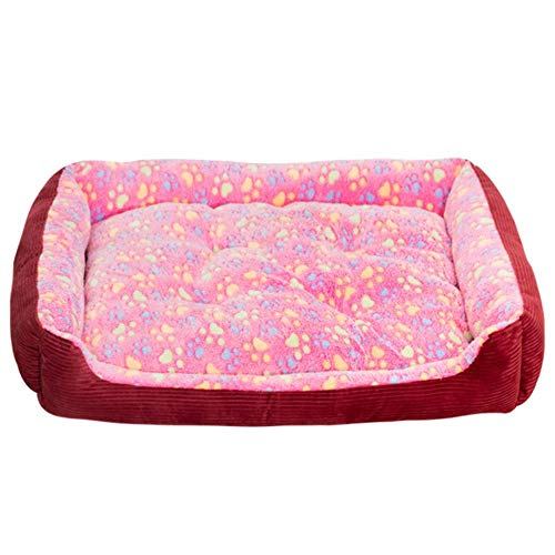 Winter Warm Pet Dog Nest Bed Pad Puppy Kitten Sleeping Bed Pets Kennel Soft Mats Sofa for Small Medium Large Dogs Cats,C,XS 50x40x15cm von WTMLK