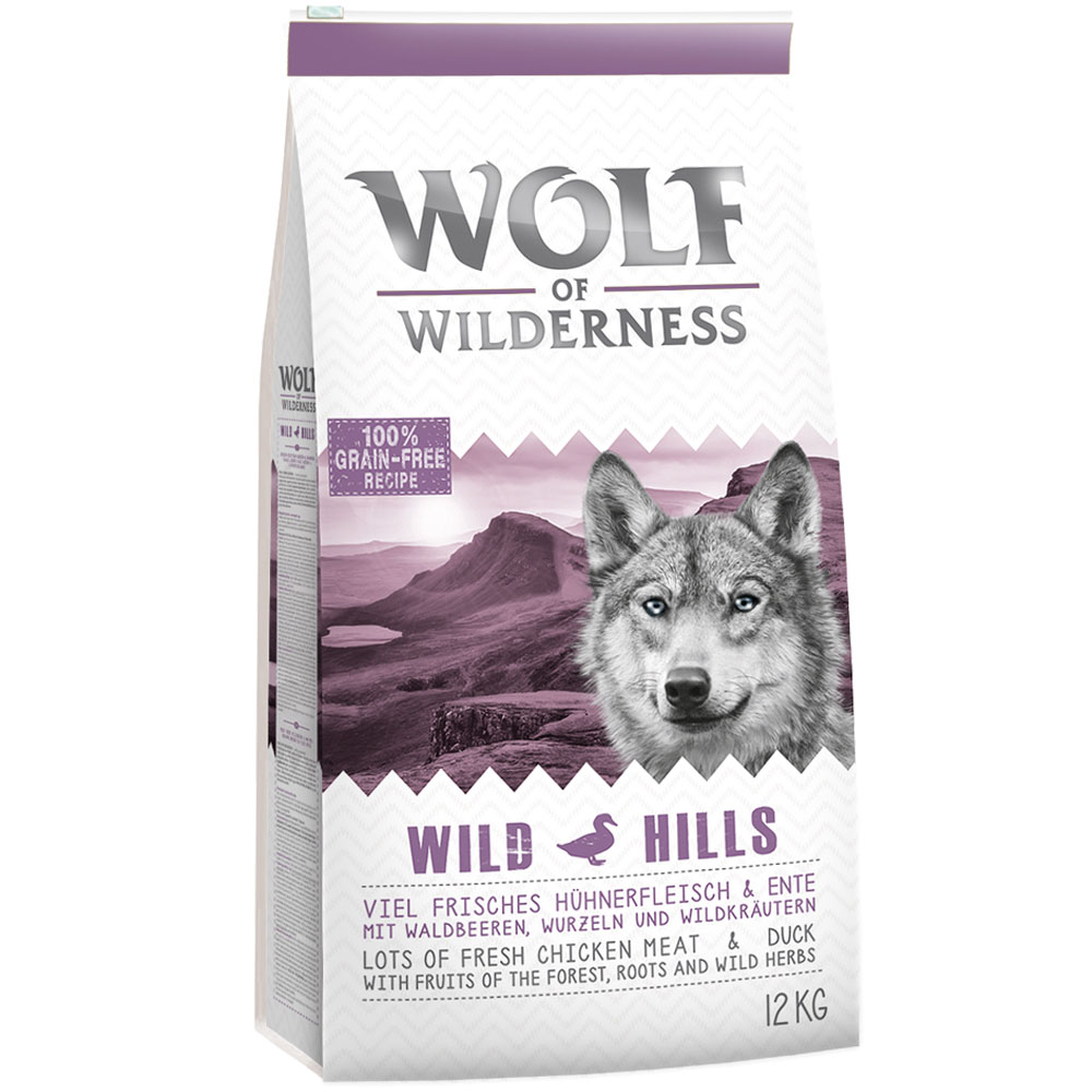 Sparpaket Wolf of Wilderness 2 x 12 kg - Wild Hills - Ente von Wolf of Wilderness