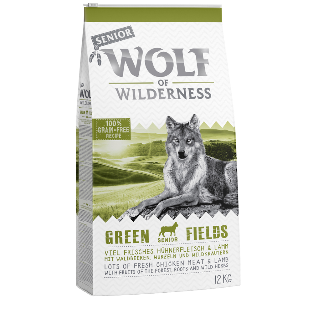 Sparpaket Wolf of Wilderness 2 x 12 kg - Senior Green Fields - Lamm von Wolf of Wilderness