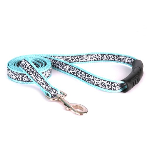 "Yellow Dog Design Chantilly Teal Ez-Grip Dog Leash with Comfort Handle 1"" Wide and 5' (60"") Long, Large von Yellow Dog Design"