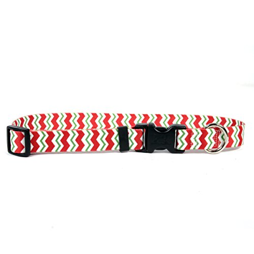 Yellow Dog Design Peppermint Stick Chevron Streifen Hundehalsband von Yellow Dog Design
