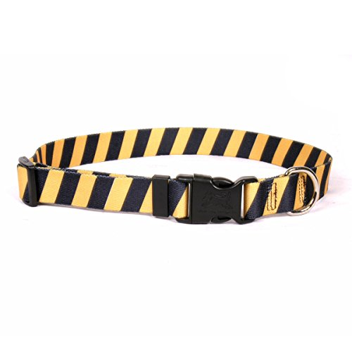 Yellow Dog Design Team Spirit Gelb und Schwarz Hund Halsband von Yellow Dog Design