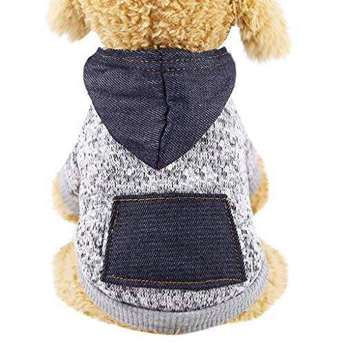 Haustierkleidung Hunde Mantel T-Shirt Winter Warm Hooded Sweatshirt YunYoud Pet Hund Jacke Cute Jumpsuit von YunYoud-Haustier Kleidung