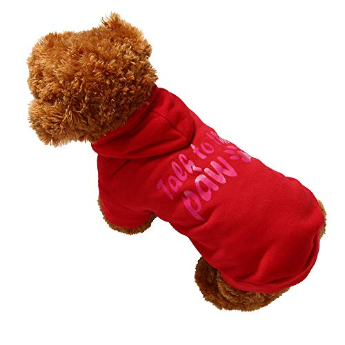 Hund Haustierkleidung Hoodie Warm Sweatshirts Puppy Coat YunYoud Winter Jacke Cute Puppy Jumpsuit Weste Hund Hoodie Sweatshirt Shirt von YunYoud-Haustier Kleidung