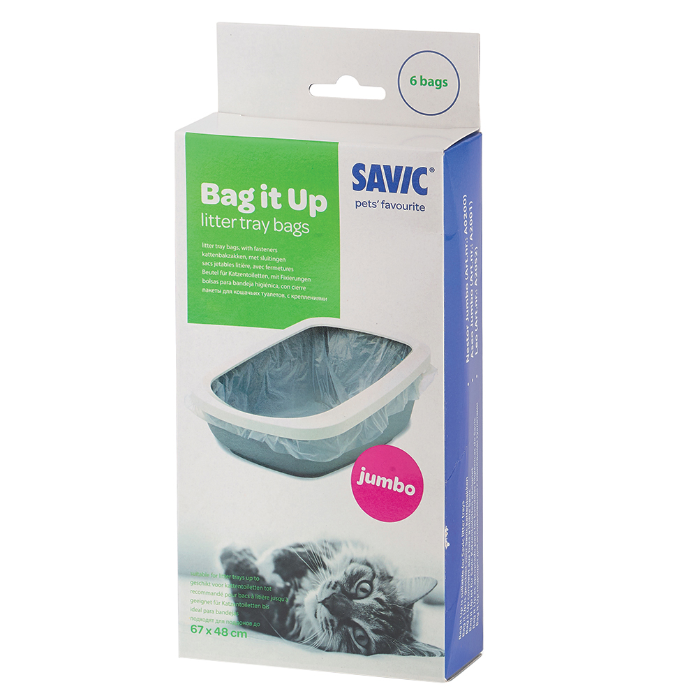 Savic Bag it Up Litter Tray Bags - Jumbo - 6 Stück von savic