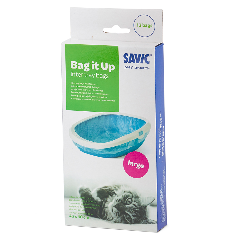 Savic Bag it Up Litter Tray Bags - Large - 12 Stück von savic