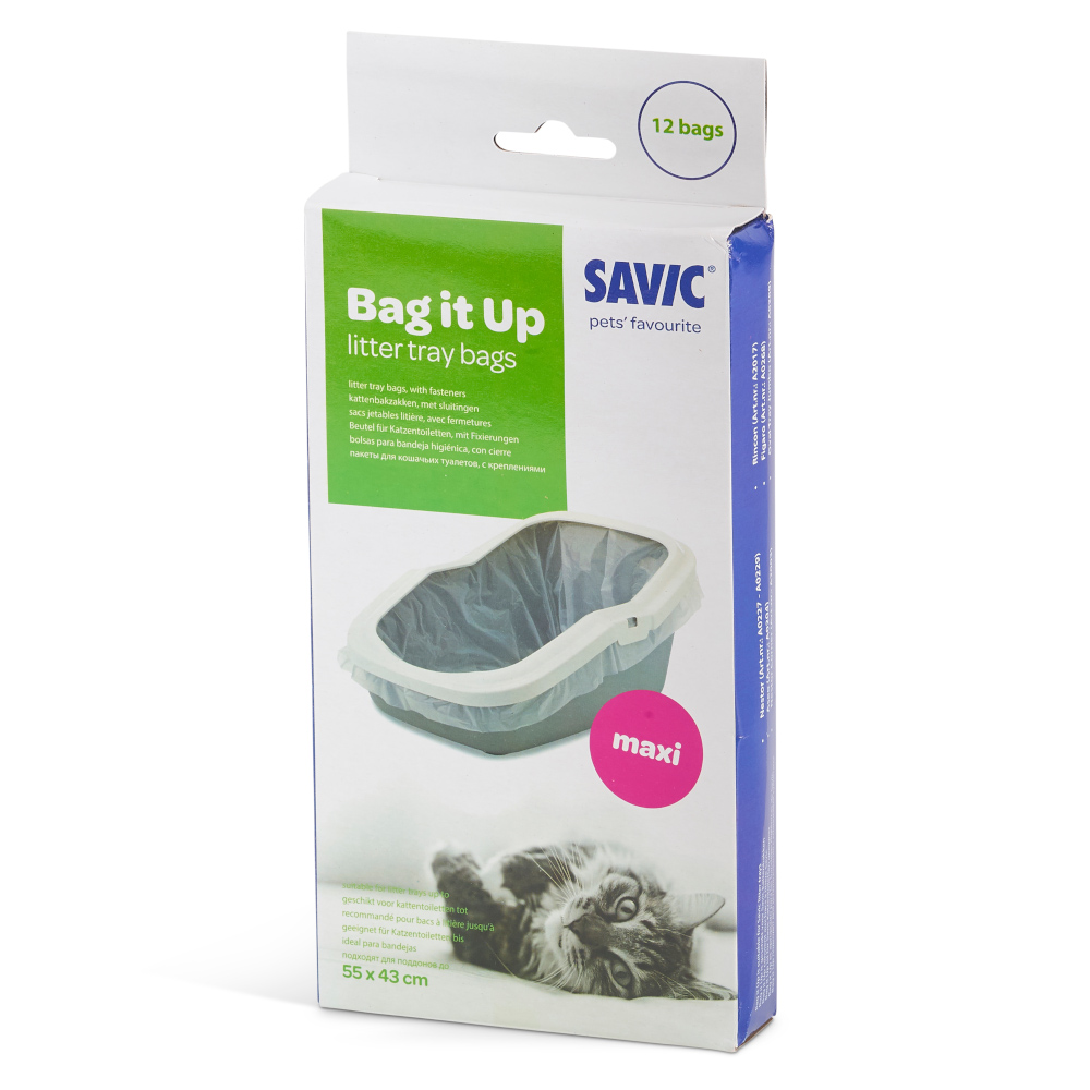 Savic Bag it Up Litter Tray Bags - Maxi - 12 Stück von savic