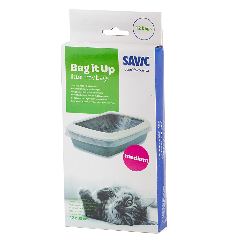 Savic Bag it Up Litter Tray Bags - Medium - 12 Stück von savic